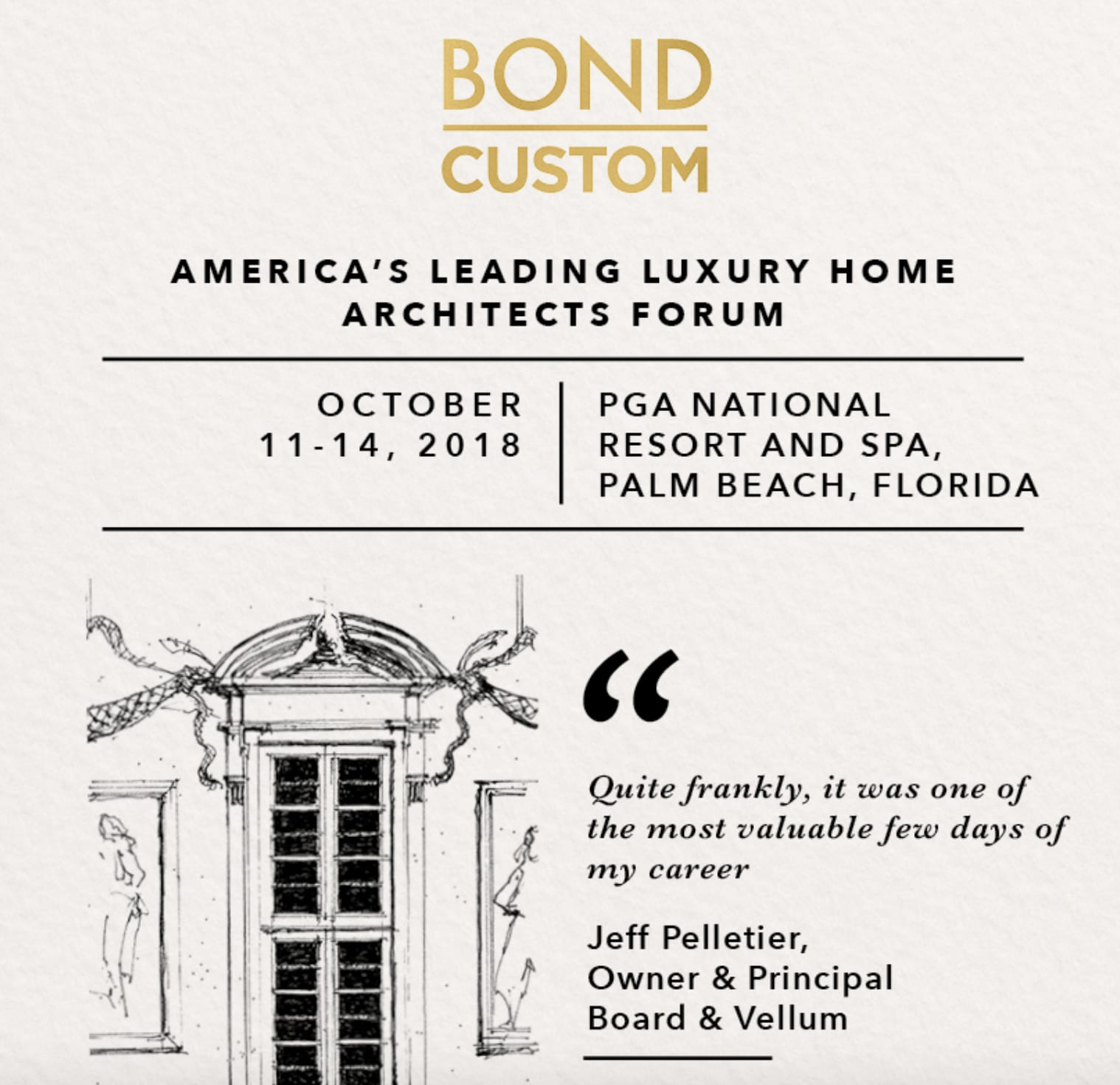 BOND CUSTOM BRINGS LUXURY DESIGN FORUM TO PALM BEACH