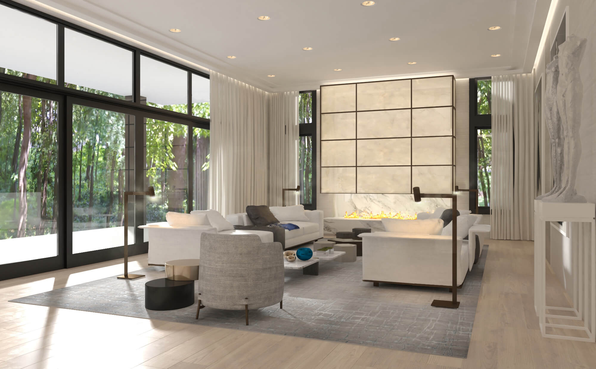 RIVER VALLEY RESIDENCE by Britto Charette Interior Design