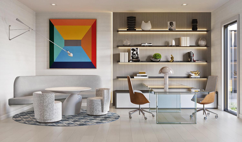 MILINA: Show-stopping Champagne Living Room by Britto Charette, Miami Interior Designer Firm.